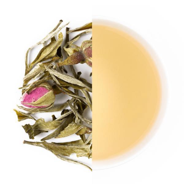 Thé blanc rose menthe